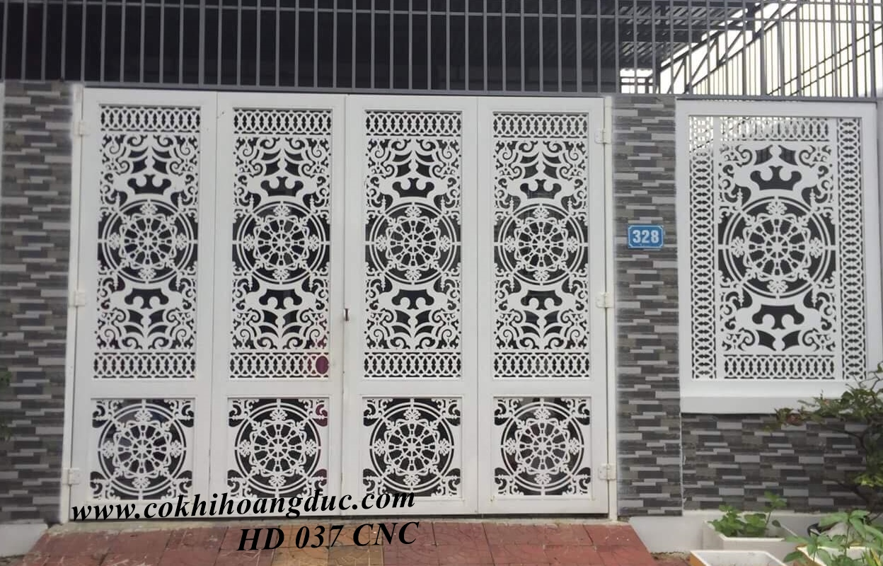 CỬA CỔNG - HD 037 CNC